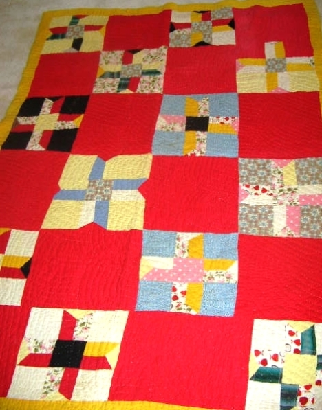 Clara's Big Red Squares by Clara Ford