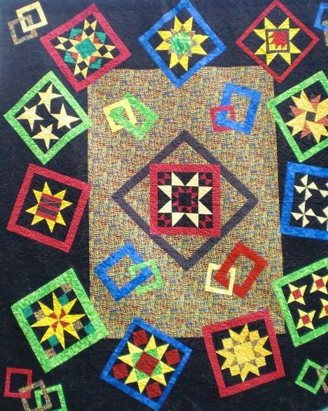 Brown Sugar Stitchers Raffle Quilt, by Vickie Clark, 2009.