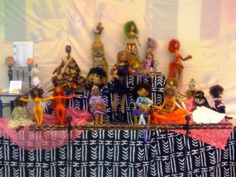 Dolls by the Dazzling Dames Doll Club at the 2010 Atlanta Quilt Festival.
