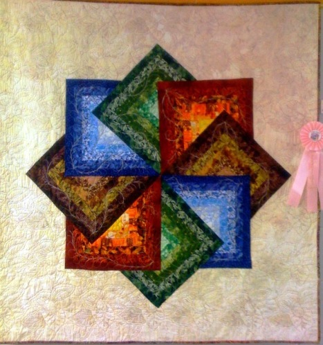 Log Cabin in the Sky by Anita Crosby. 2010 Atlanta Quilt Festival Winner of Best Traditional Quilt