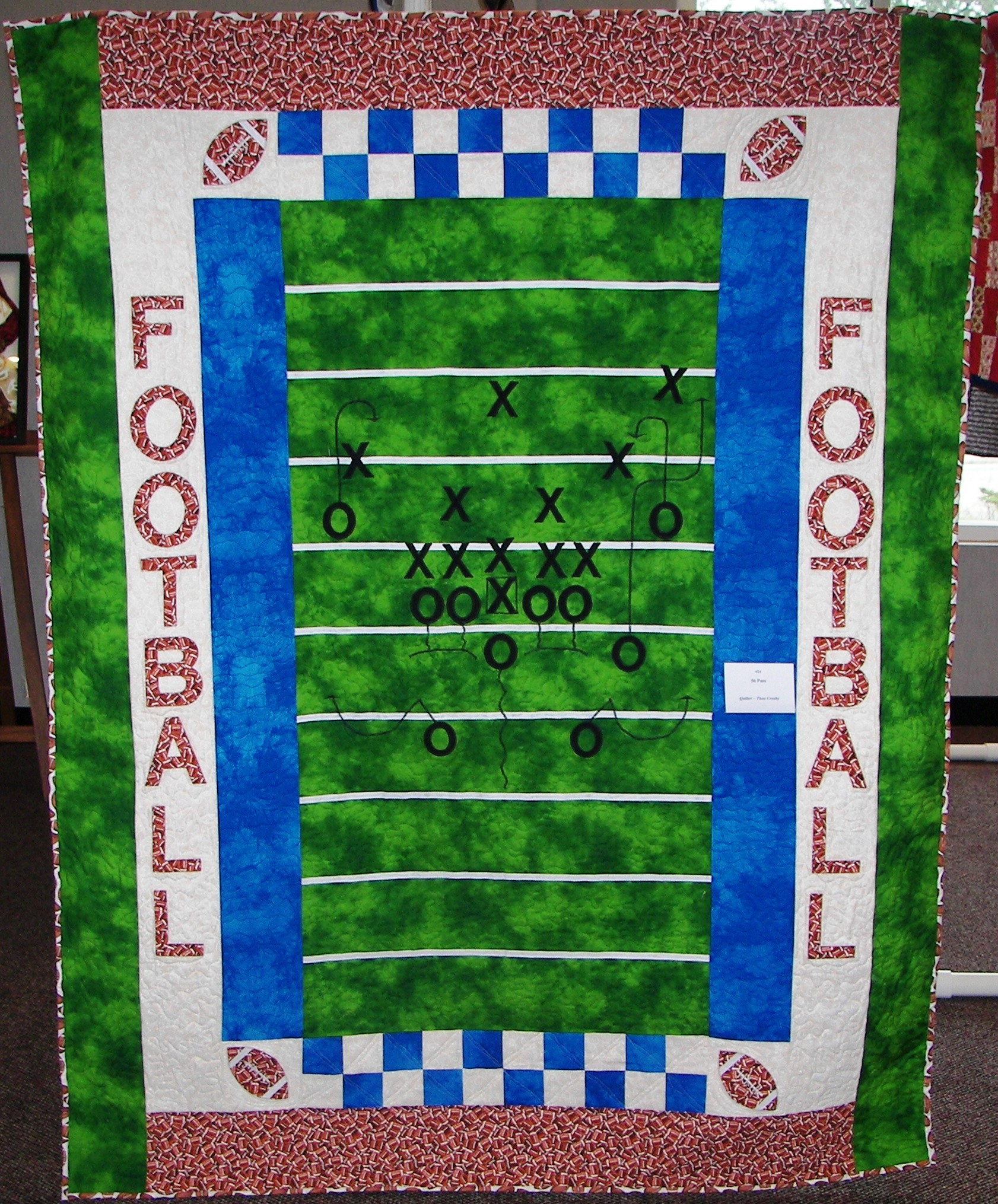 thea s football quilt 2007 clara ford foundation